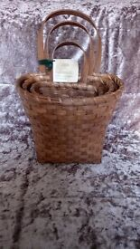 (brand new) Handmade rattan wall baskets
