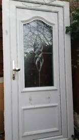 Pvc front door with frame