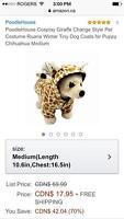 Small Dog Giraffe Costume. Brand New