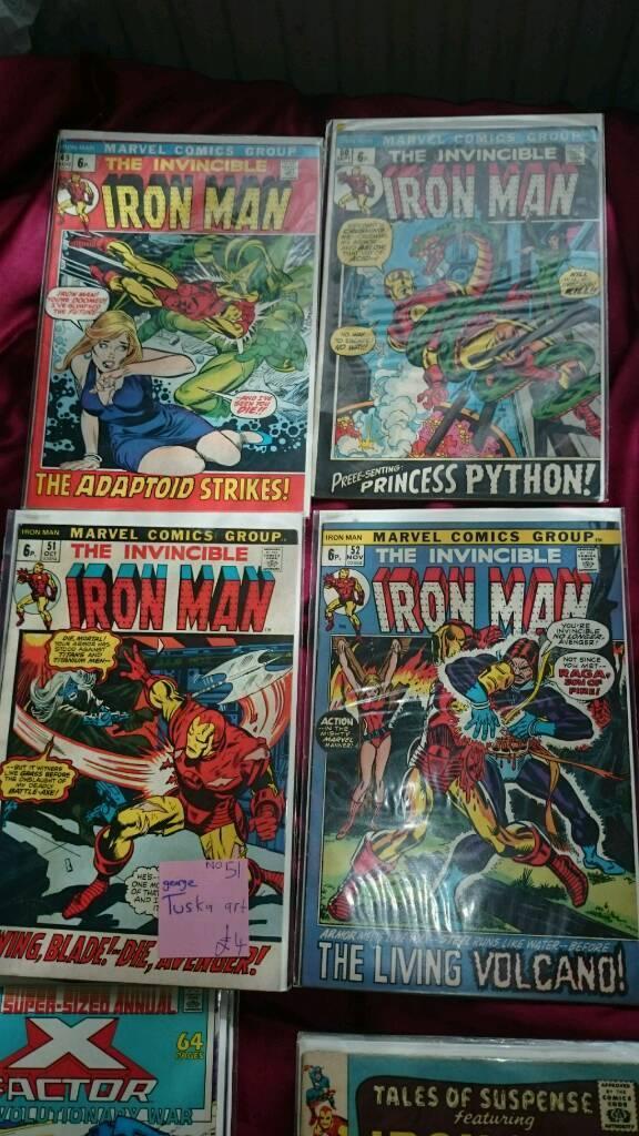 7 ironman comics 49-52,57,58,59