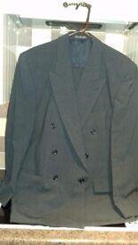 Gents grey fine check fine tailoring suit