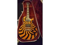 Zakk Wylde Gibson - Epiphone Les Paul Custom Shop Orange Buzz Saw - EMG pickups - Hard Case
