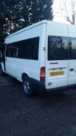 FORD TRANSIT 15 SEAT MINI BUS 2004 MOT JUNE 2018 EXCELET ALL ROUND