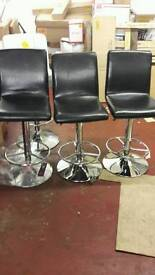 Leather effect barstools