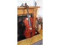 Cello full size by Stingers of Edinburgh, 2 bows plus Hard case