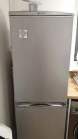 Hotpoint fridge freezer.. good condition. Silver in colour. 55cm width