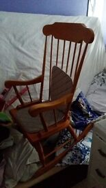 Brown oak rocking chair. Looking for £50 ono