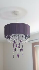 Dunelm Table Lamp and matching Ceiling Lampshade