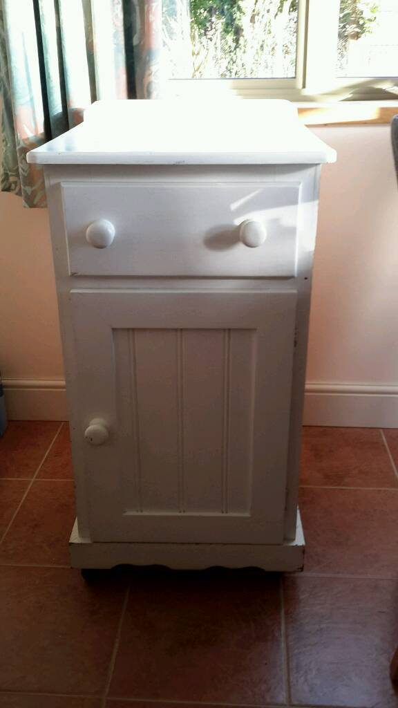 Pine cupboard with drawer( painted white)