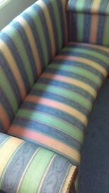Hallway/ bedroom /boudoir sofa Candy striped ex.condition free from marks and from smoke free home.
