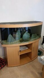 450 litre juwel fish tank with cabinet