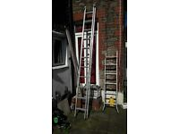 Double Extension ladders, Wickes domestic 11 rung (3.37) sections.