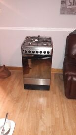 Indesit gas single oven and grill with built in gas hob