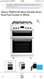 Brand New Dual fuel cooker with gril and fan