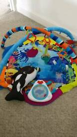 Baby playmat play gym
