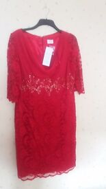 Lovely brand new red dress size 18. Cost over £200 will accept£75