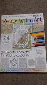 Brand new, unused 'Relax With Art' colouring book/magazine