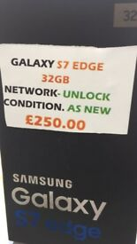 GALAXY S7 EDGE 32GB UNLOCK AS NEW