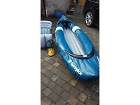 Sevylor Riviera 2 Person Kayak Inflatable Canoe Dinghy Boat Raft Sailing