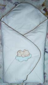 Newborn Baby Swaddle Wrap Duvet, Blanket, Pram Sleeping Bag
