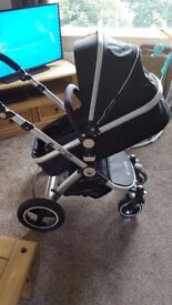 Isafe 3 in 1 travel system with isofix base