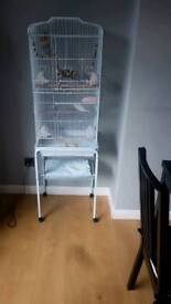 2 budgies and cage also 20kg of food