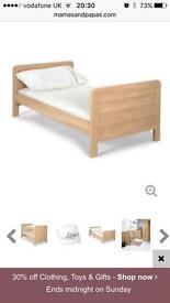 Mamas n papas bed with mattress
