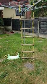Sturdy rope ladder and elc swing seat