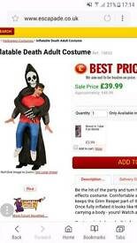 Inflatable adults grim reaper Halloween costume