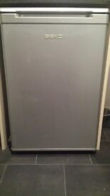 Beko under counter fridge in silver