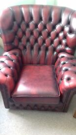 Chestefield Style Wing Chair - Exceptional Condition