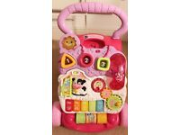 VTech First Steps Baby Walker - Pink in excellent condition