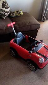 Red mini push car