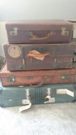 Various items from hat boxes to shipping trunks