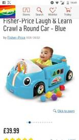 Fisher price crawl & learn car