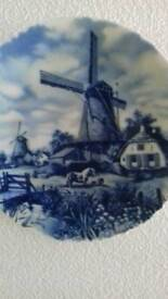 Plate by Delft Holland Blauw Wall plate
