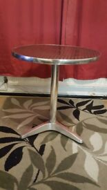 Stainless steel round table. FREE delivery in Derby