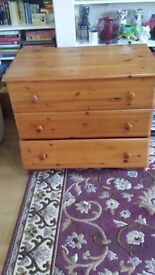 Pine chest of drawers need attention
