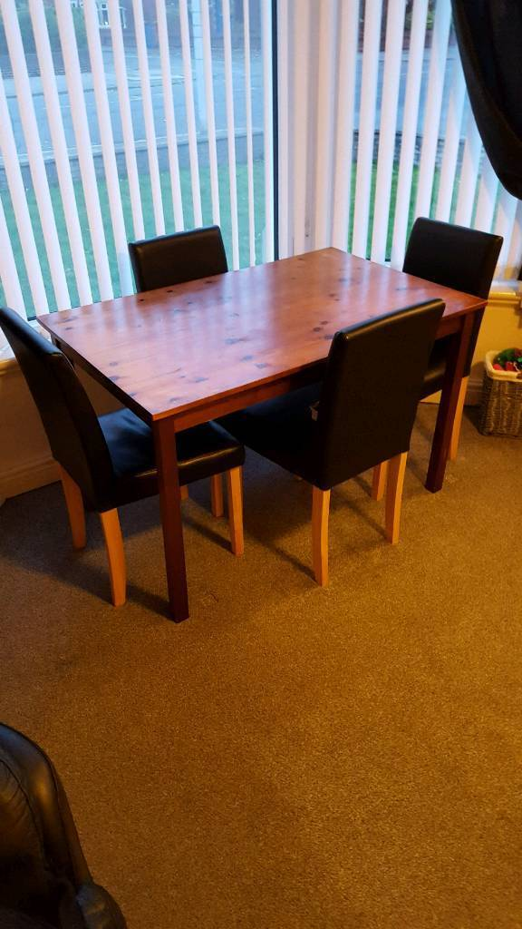 For Sale Dining Table And Chairs Blackpool