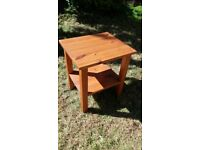 Solid wood IKEA small table with shelf under