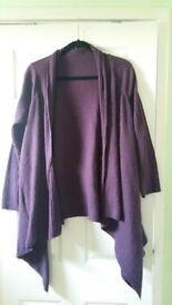 New Ladies Womens Papaya Long Purple Cardigan size 12/M