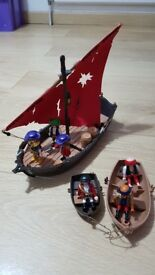 Playmobil Pirate Dinghy Sail Boat – Model 4444 – Age 4+ - Perfect condition