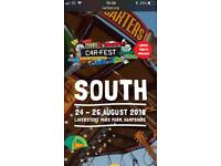 Carfest South camping tickets