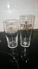 26 new Branded pint glasses