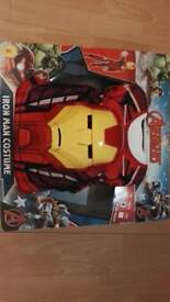 Boys iron man costume and mask