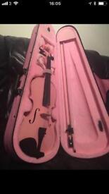 Girls pink viola