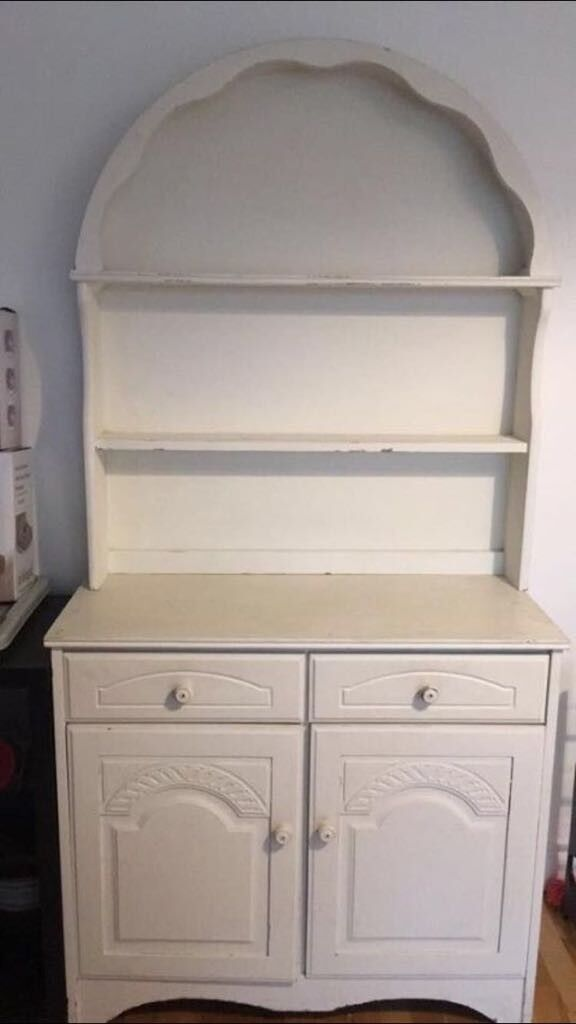 Shabby Chic White Painted Welsh Dresser