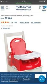 Mothercare booster seat in red