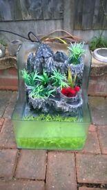 fountain fish tank aquarium with powerhead wembley kot
