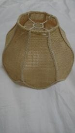 Beautiful 60's 70's boho cane vintage light shade for ceiling